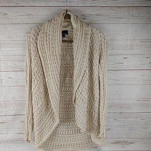 Cynthia Rowley open front crochet cardigan M